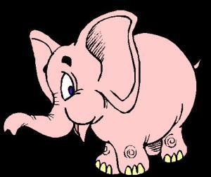 Elephant - Pink 03