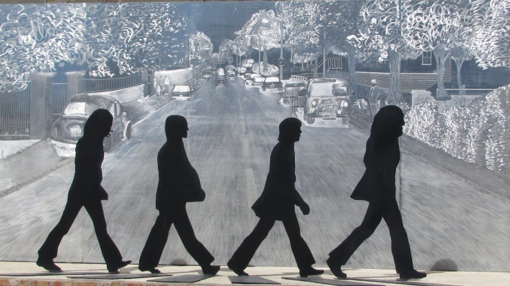 On Abbey Road. Sculpture by Danny West